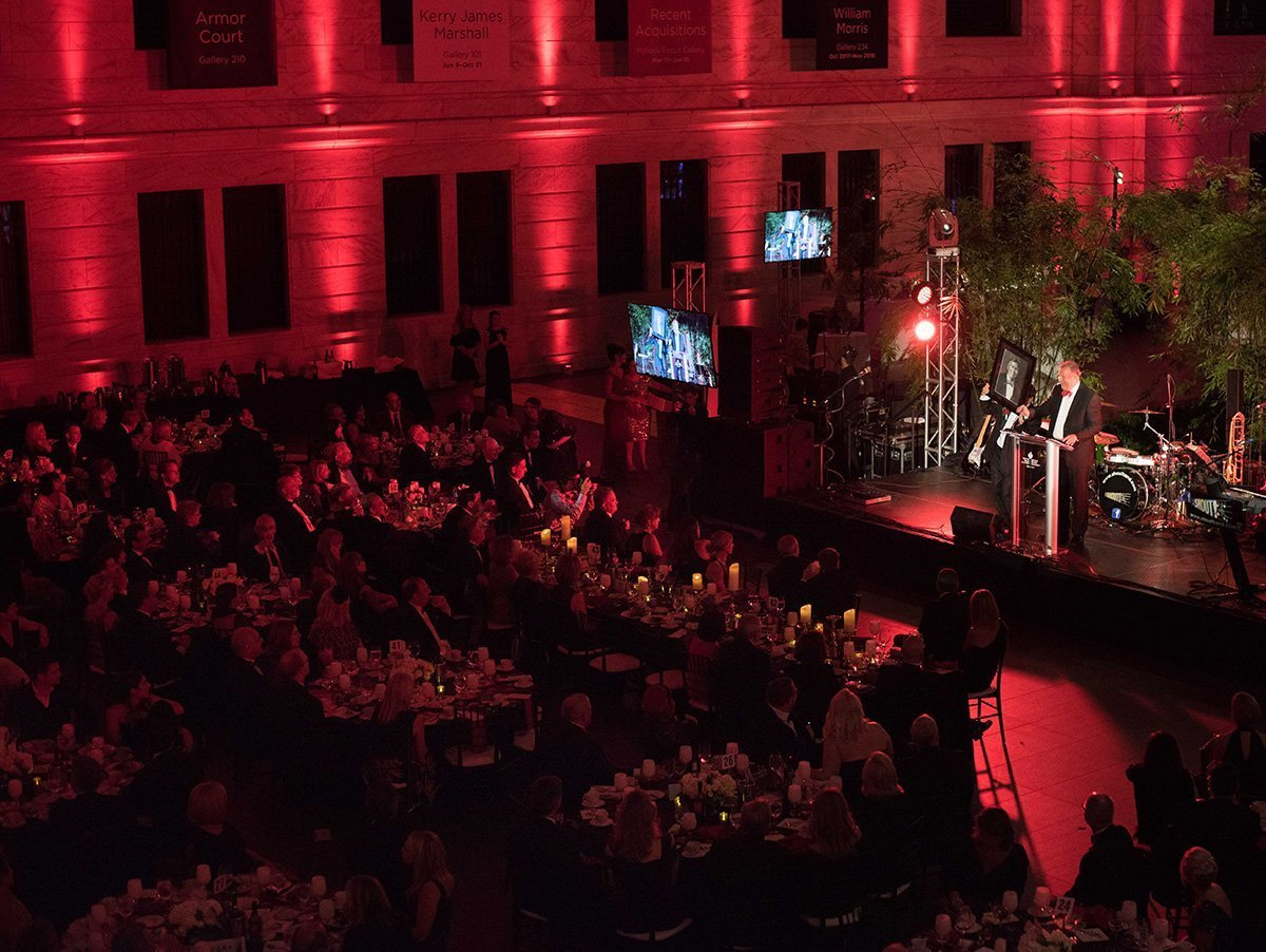 fundraising events cleveland | crowd and stage at night at the 2018 heart and stroke ball
