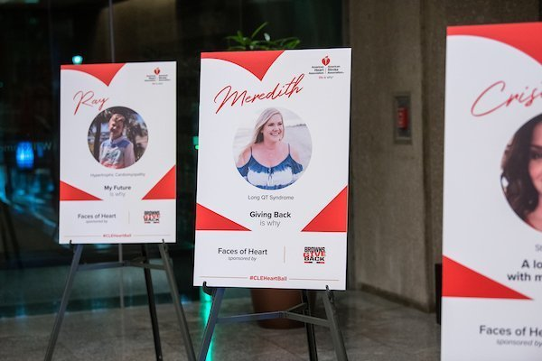 fundraising event planners cleveland ohio | 2018 cleveland heart and stroke ball 'faces of heart' boards