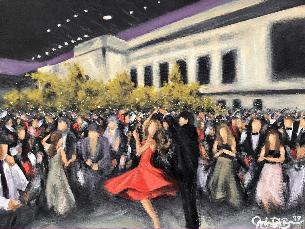 fundraising event at the cleveland museum of art | painting of people dancing at the cleveland museum of art