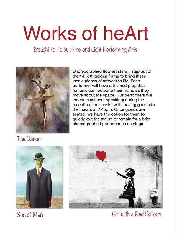 fundraising event at the cleveland museum of art | flier about heart-themed works of art