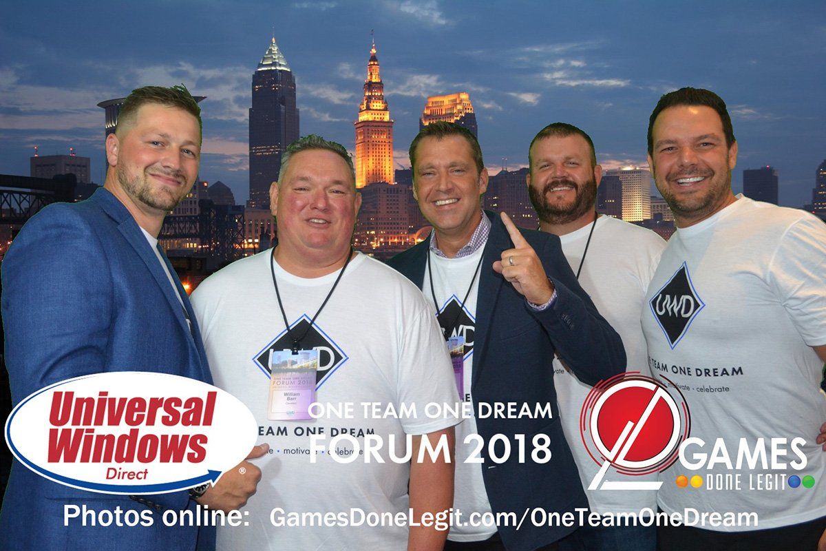 corporate events cleveland ohio | universal windows direct one team one dream postcard