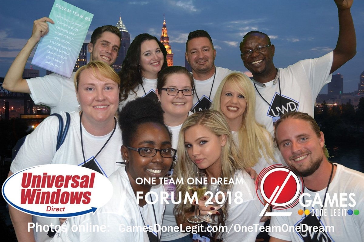 corporate events cleveland ohio | one team one dream postcard