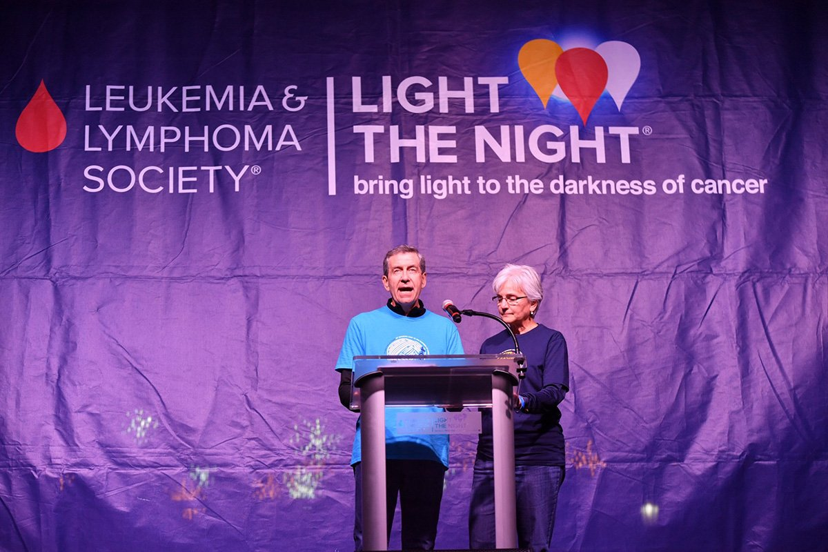 professional event planners | speech on stage at the 2018 light the night event