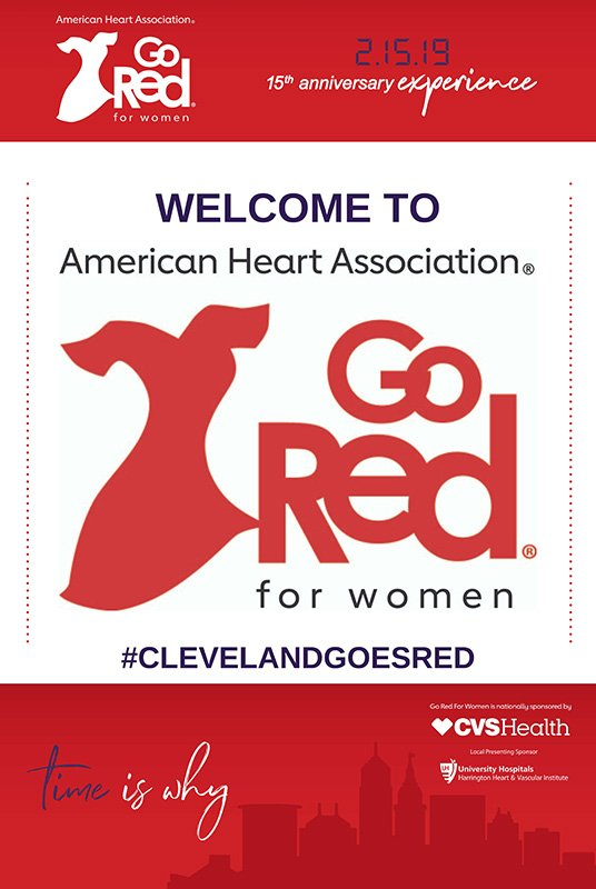 common event planning challenges | go red for women luncheon postcard