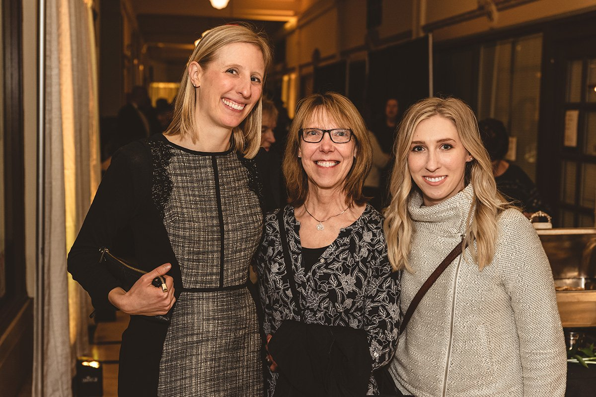 fundraising events | three women smiling for a photograph