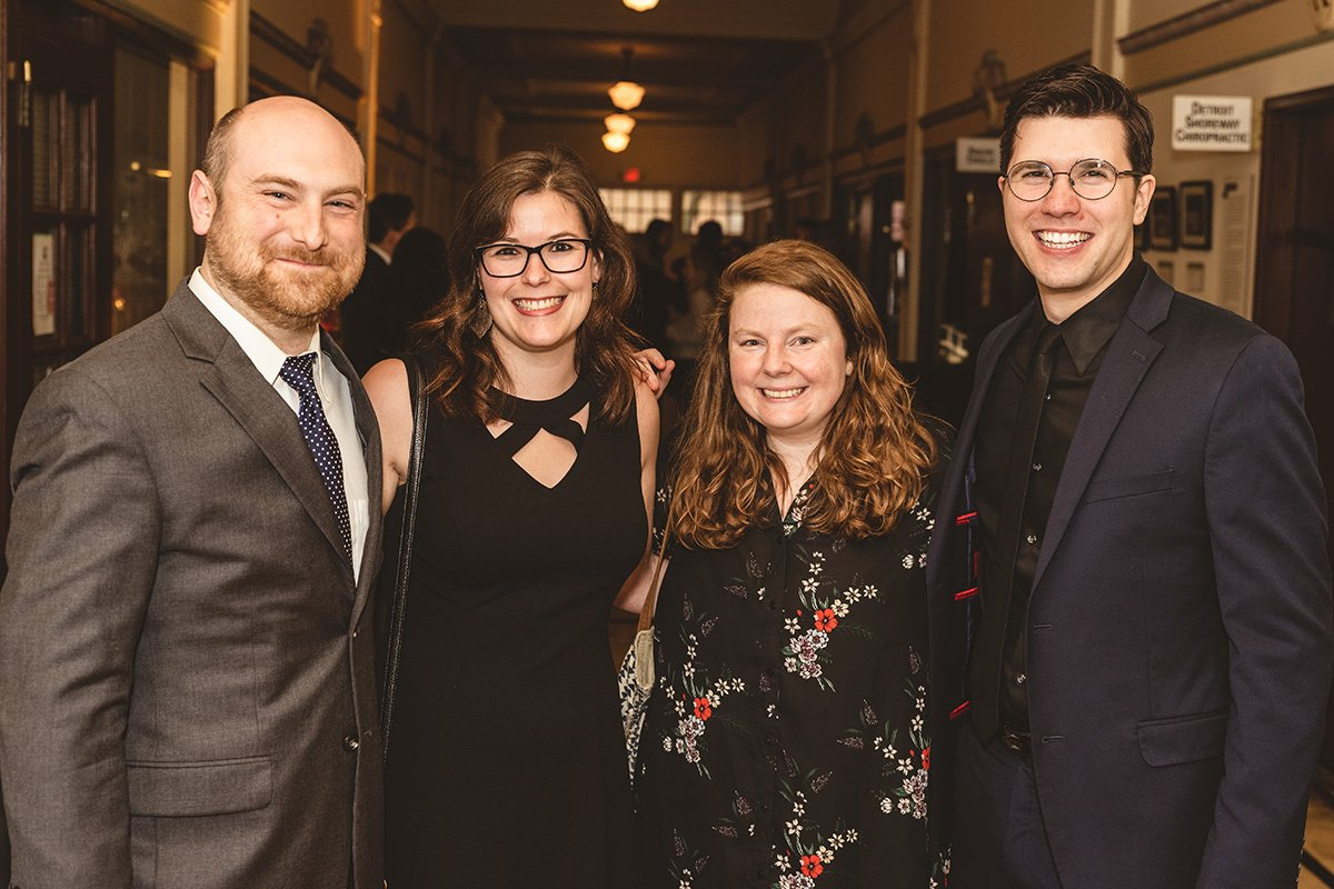 fundraising events | four people smiling for the camera at the 2019 capitol theare gala