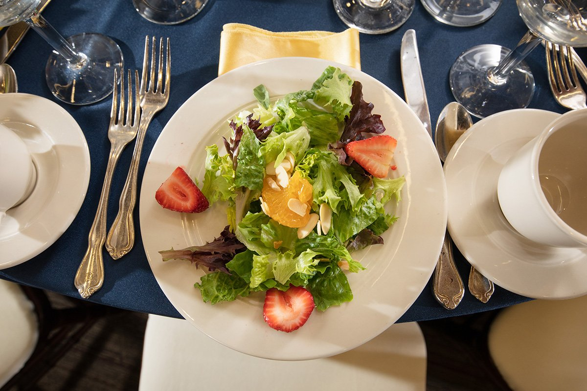 improve an annual fundraising event by simplifying | fundraiser table settings and salad