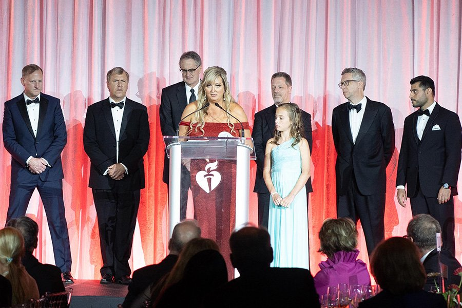 fundraising events | people on the heart and stroke ball stage