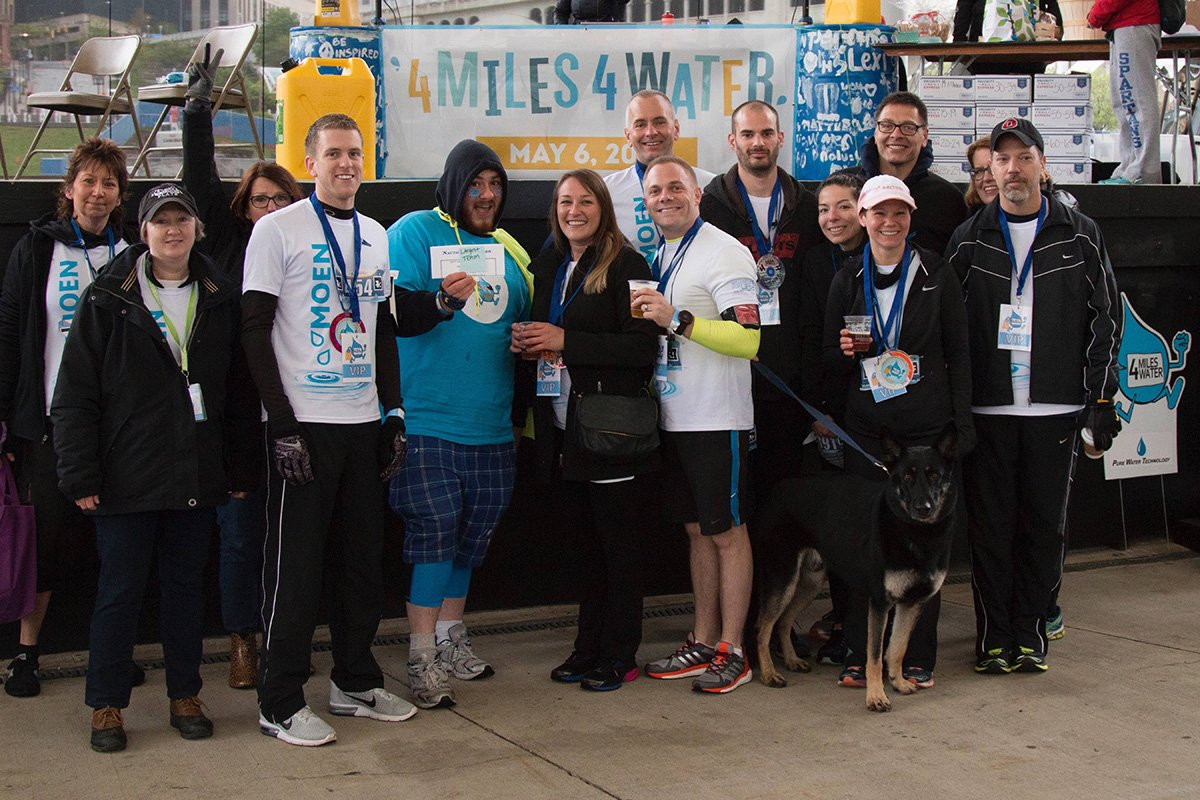 long-term non-profit growth | participants at the 4 miles 4 water event