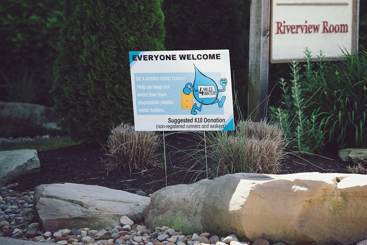 long-term non-profit growth | water nonprofit event sign