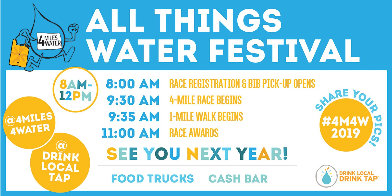 strategic event planning | all things water festival postcard