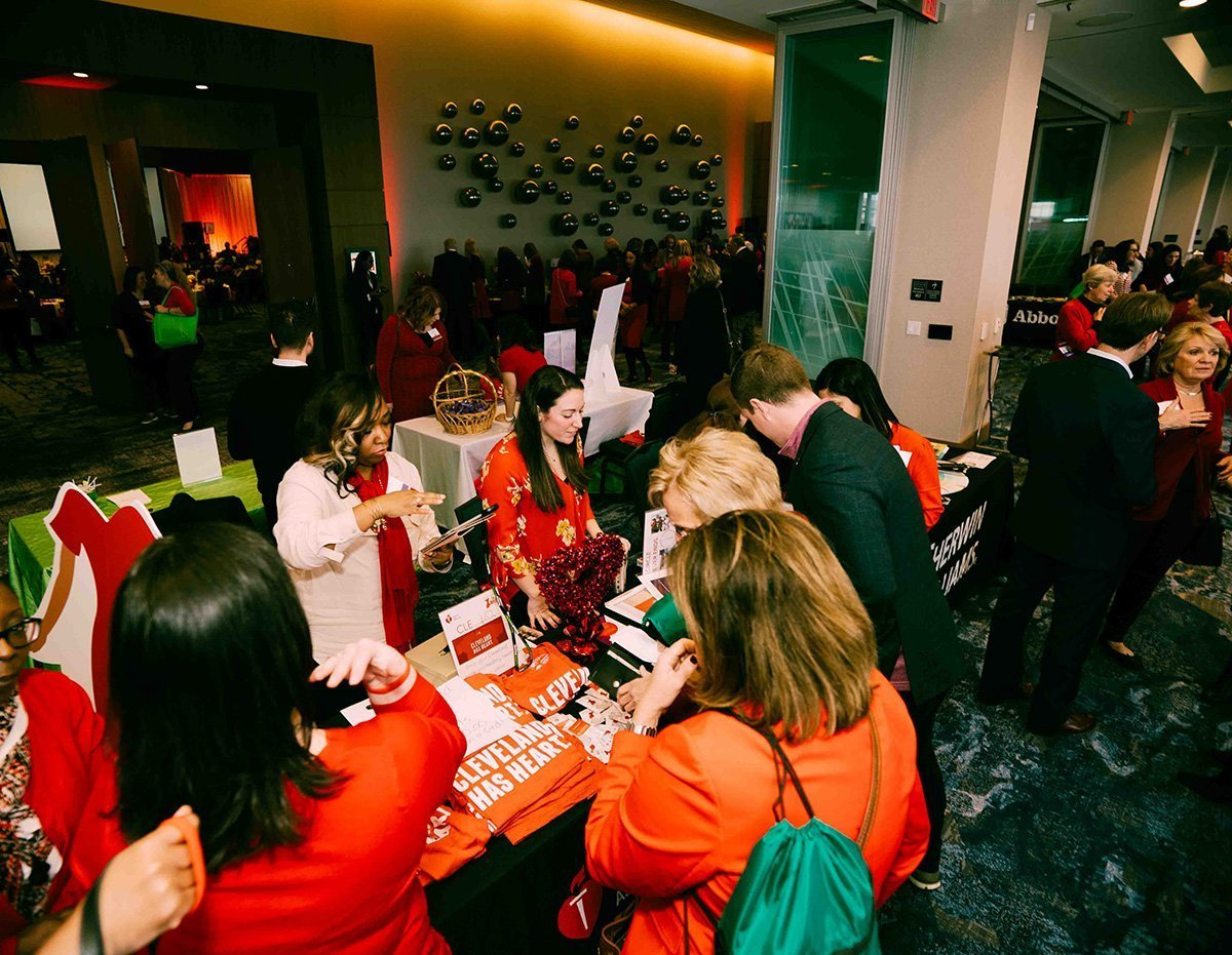 event planning challenges | 2019 go red for women luncheon event tables
