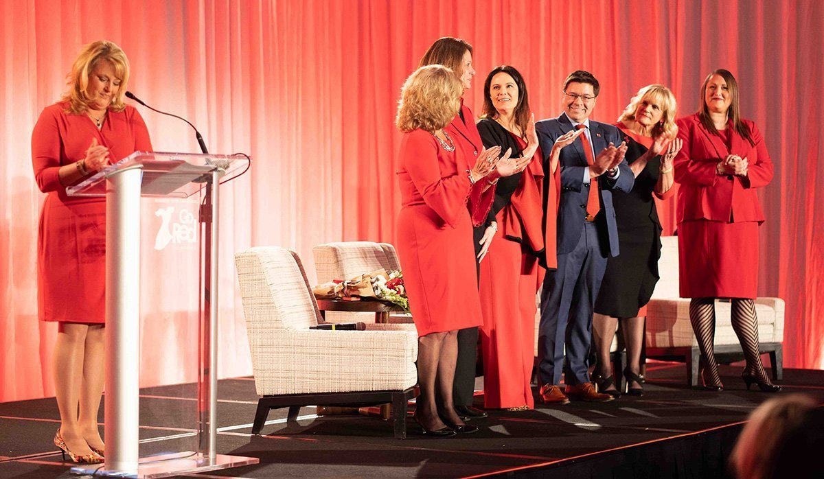 common event planning challenges | 2019 go red for women luncheon stage and speech