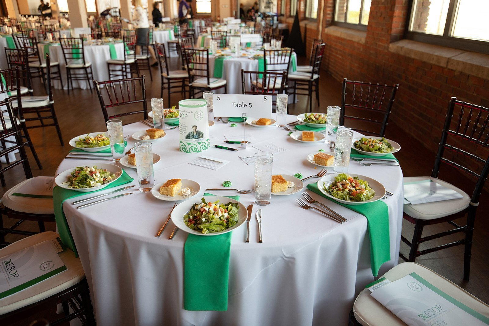 non-profit event planning | 2018 ESOP annual luncheon food on a table