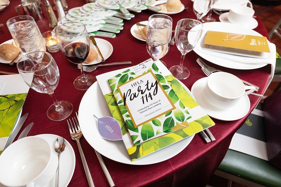 nonprofit event planning | HFLA party table settings