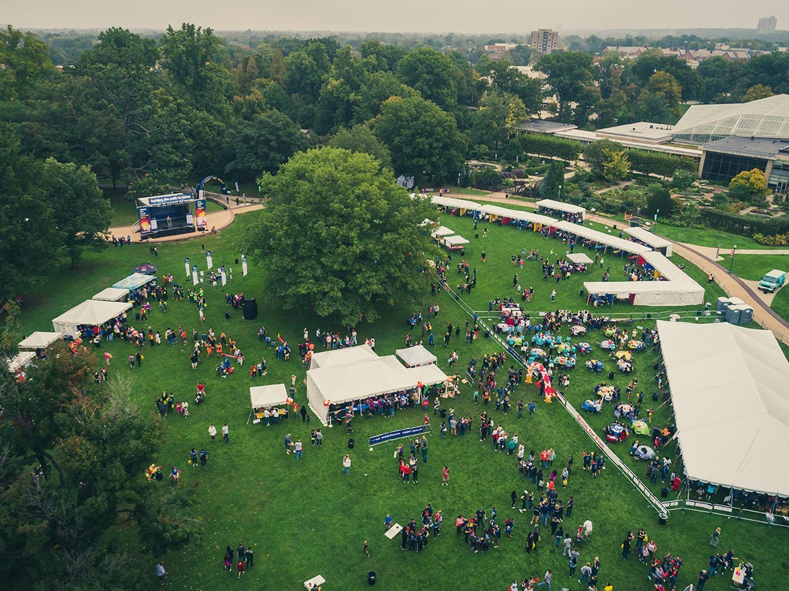 professional event planners cleveland ohio | light the night 2018 park overview