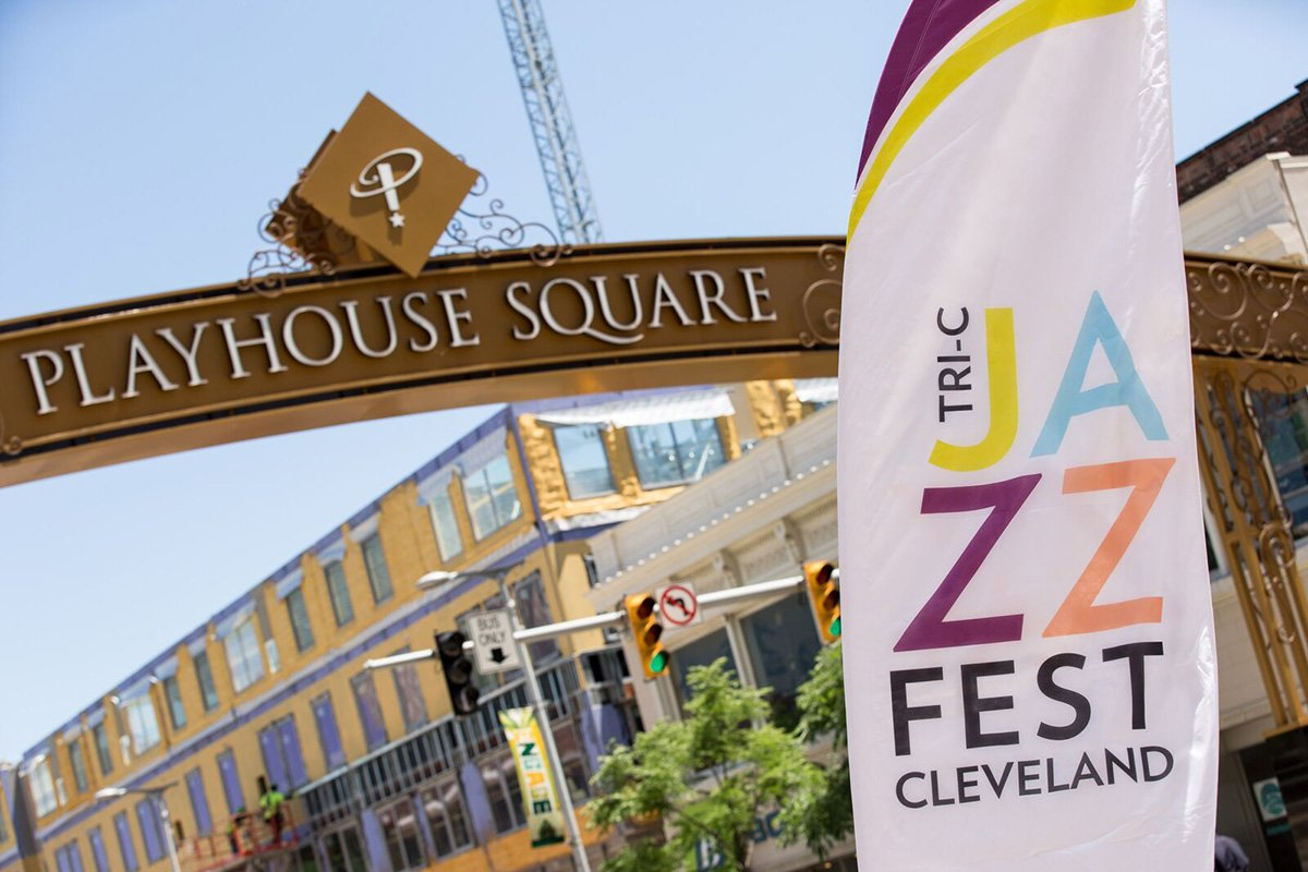 planning an outdoor music festival | tri-c jazzfest and playhouse square signs