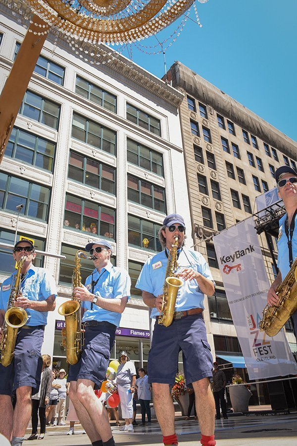 music festival planning | saxophonists at the tri-c jazz fest