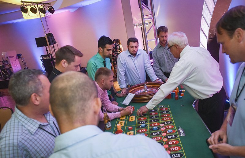 team building corporate events | roulette table at the one team one dream event
